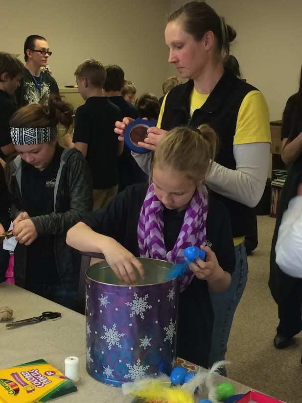 We had some very special helpers from Mountain View Core Knowledge School. They helped make cat toys for the kitties! www.humanesociety...