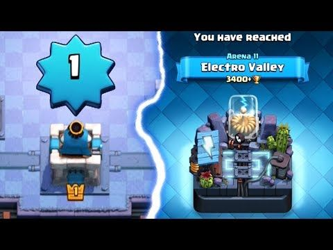 How did a level 1 account get to Electro Valley Arena 11 in Clash Royale… Hilarious Challenge:  Follow me on Twitter: Tweets by CamaroBroGaming Follow me on Instagram: https://www.instagram.com/christopherryan98/?hl=en This content is not affiliated with, endorsed, sponsored, or...