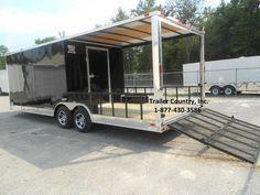 New 2015 8 5x24 8 5 x 24 Custom Utility Enclosed Cargo Trailer w Porch Ramp   eBay