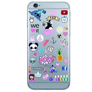 Pour Coque iPhone 7 / Coque iPhone 6 / Coque iPhone 5 Ultrafine / Motif Coque Coque Arrière Coque Dessin Animé Flexible TPU AppleiPhone 7 - EUR € 2.93