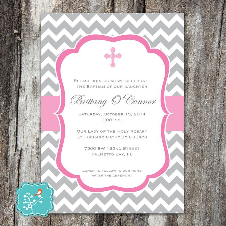 free printable0th wedding anniversary invitations%0A Baptism Invitation Baptism Announcement by AFlairForPaper on Etsy