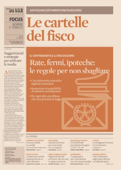 Il Sole 24 Ore Focus - Le Cartelle del Fisco - 08.05.2013  Italian | PDF | 24 Pages | 17 MB