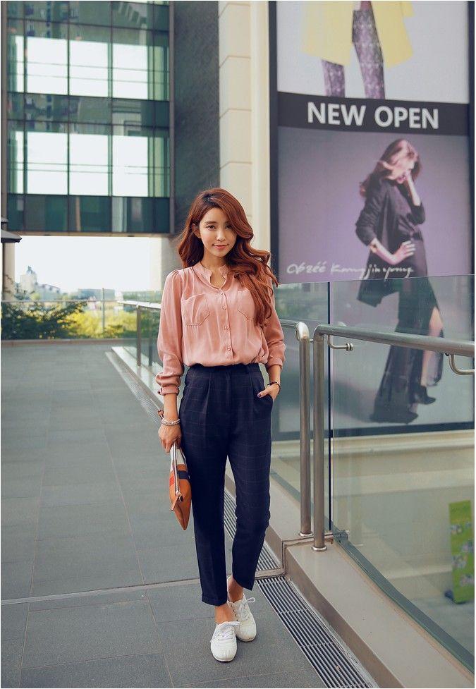 Autumn Plaid Slacks | Korean Fashion