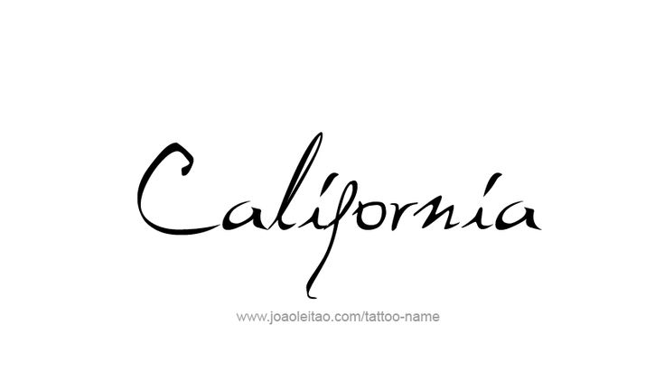 Tattoo Design USA State Name California