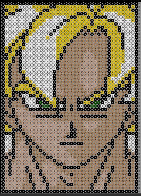 dragon ball perles à repasser - pixel art en perle à repasser