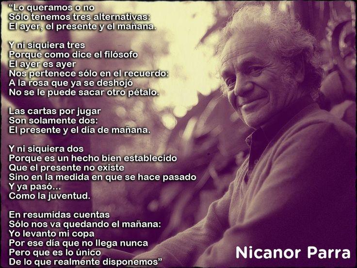 ¡Felicidades Nicanor Parra! Hoy el poeta chileno cumple 100 años pic.twitter.com/DlNk4RqyzO