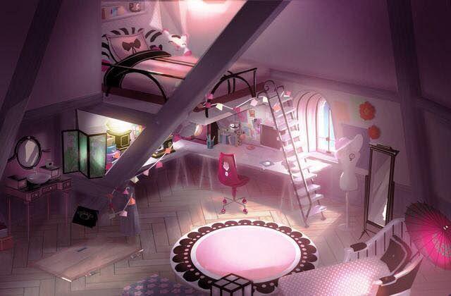 UAU!! que quarto mais lindo da Marinette!! *0*