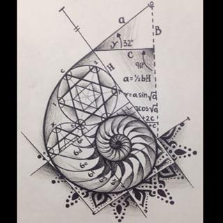 sacred geometry spiral tattoo - Google Search                              …