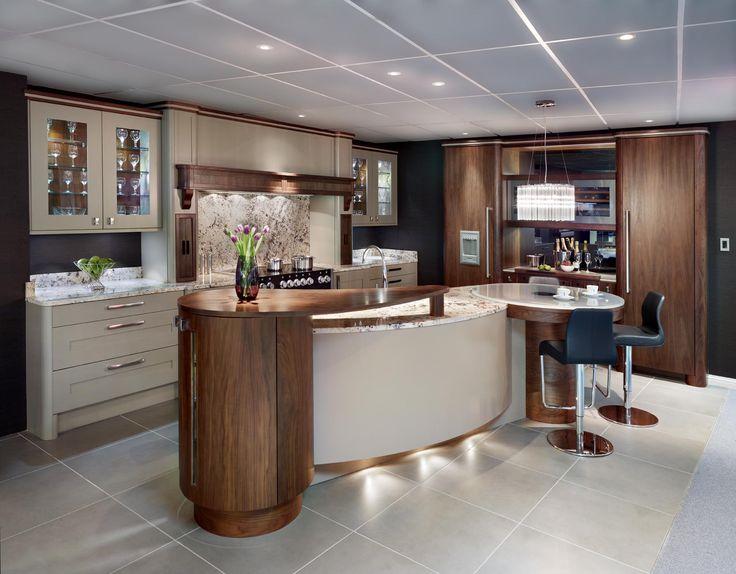 Walnut And Painted Oak Kitchen