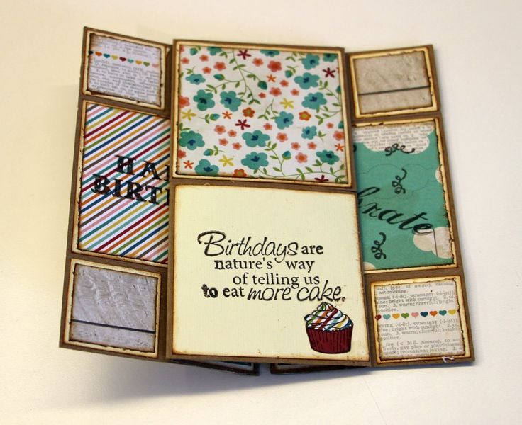 New tutorial for a Neverending card - a card that has never-ending opennings…