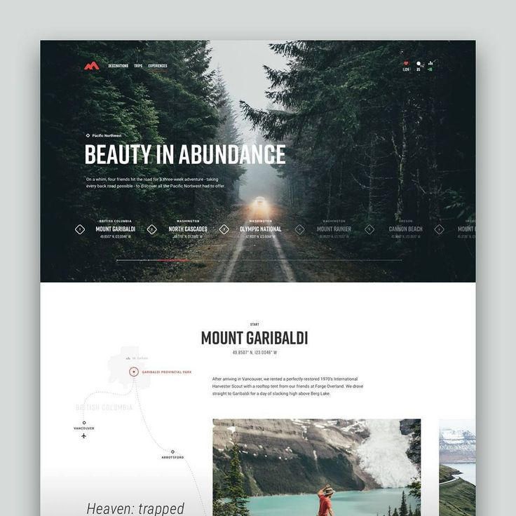 Pacific Northwest Travels by @taylorperrin_ / Daily inspiration, follow us and get inspired. #dailydesign #dailyui #websites #webdesign #webdesigner #designer #websitedesign #ui #ux #uiux #uidesign #uxdesign #uitrends #uxdesigner #userinterface #userexperience #interface #interfacedesign #digitaldesign #trending #graphicdesign #graphicdesignui #wireframe #landingpage #interactiondesign #dribbble #behance #вебдизайн #сайт