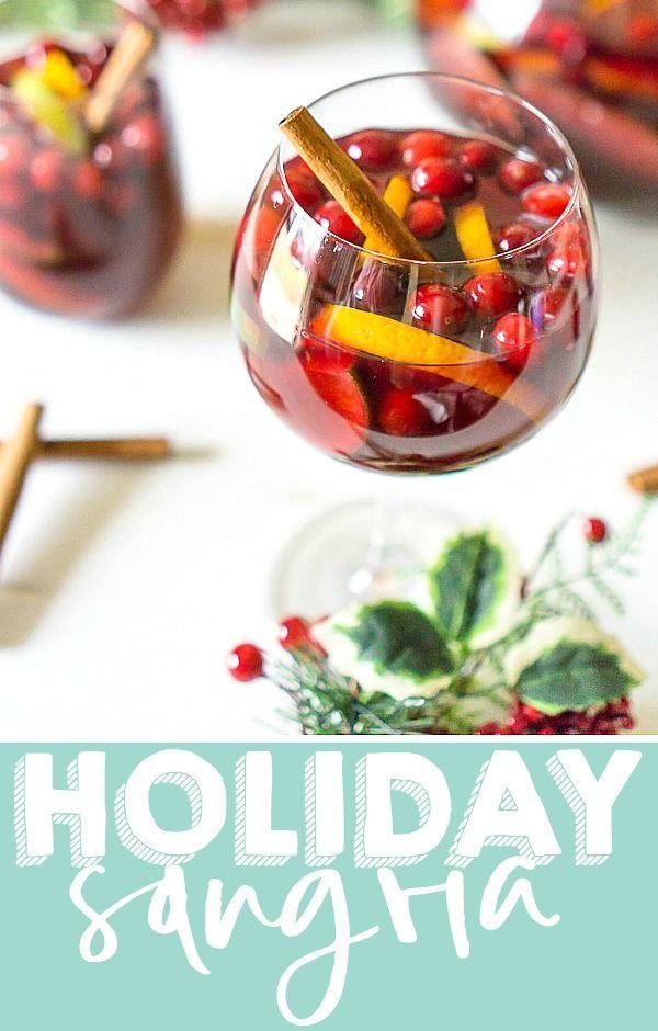 Citrus Cranberry Holiday Sangria Recipe * Seasonal  Holiday