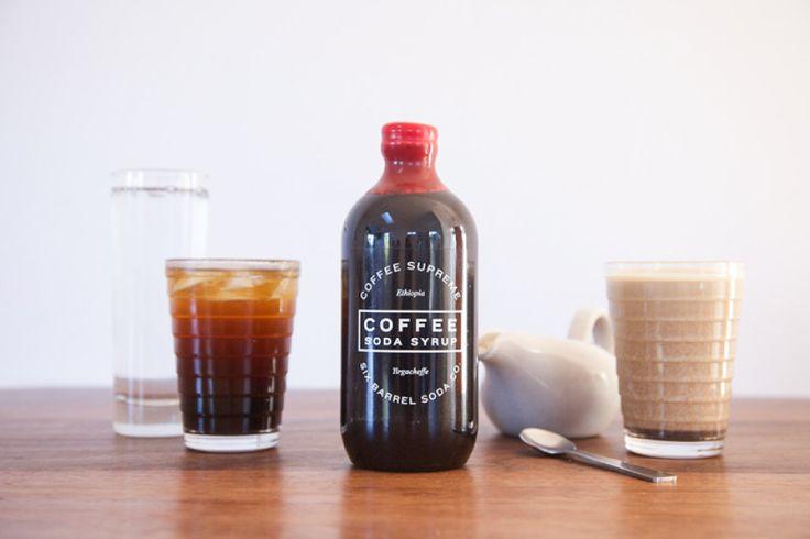 Coffee soda syrup.. delicious!