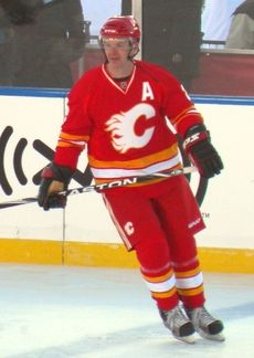 Allan MacInnis (born July 11, 1963) is a retired Canadian ice hockey defenceman who played 23 seasons in the National Hockey League (NHL) for the Calgary Flames and St. Louis Blues. A first round selection of the Flames in the 1981 NHL Entry Draft, he went on to become a 13-time All-Star. He was named the Conn Smythe Trophy winner as the most valuable player of the playoffs in 1989 after leading the Flames to the Stanley Cup championship. He w