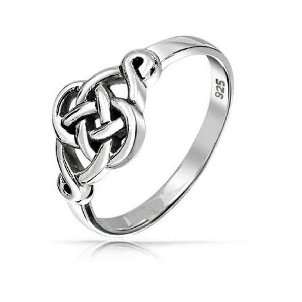 Bling Jewelry 925 Sterling Silver Irish Celtic Loveknot Ring (29 AUD) ❤ liked on Polyvore featuring jewelry, rings, grey, knot ring, celtic knot jewelry, celtic jewellery, celtic knot ring and sterling silver band rings