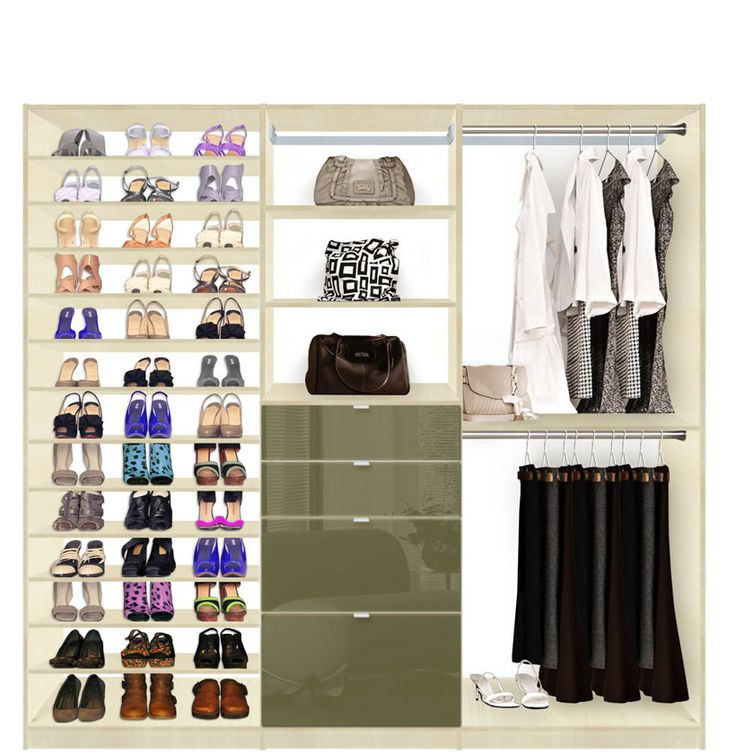 Isa Custom Closet   Shoe Storage Drawers And Hanging Closet System