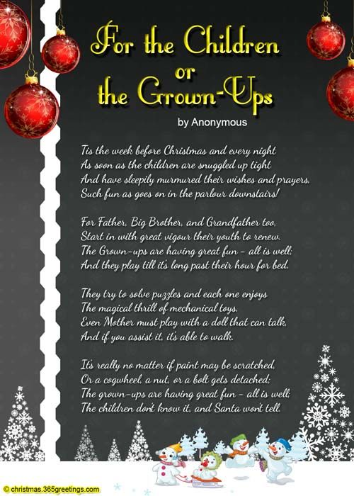 Christmas Poems For Kids  Poems for children, Kid and Kids christmas
