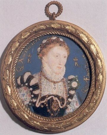 A popular Pinterest profile with a lot of museum related pins - Pocketmuseum.   Picture: 1572 Elizabeth miniature by Nicholas Hilliard (National Portrait Gallery, London) | Grand Ladies | gogm