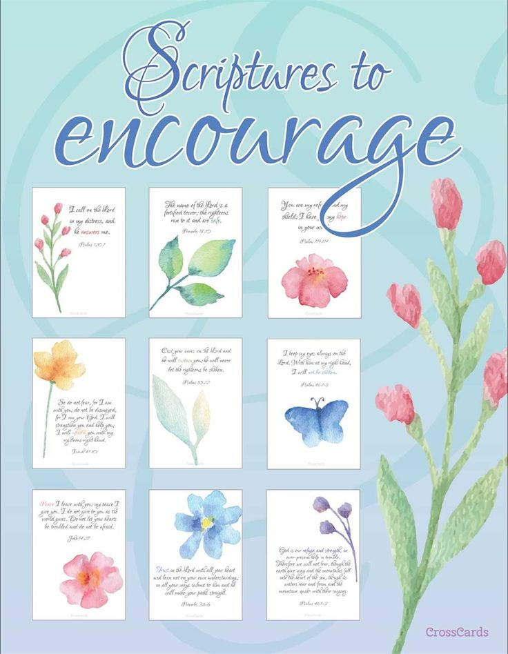 Scripture to Encourage You - Free Printable