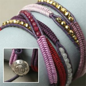 Herringbone Wrap Bracelet -- free tutorial plus video tutorial on web page.  Really nice site for supplies & *free* projects.   . . . .   ღTrish W ~ http://www.pinterest.com/trishw/  . . . .  #handmade #jewelry