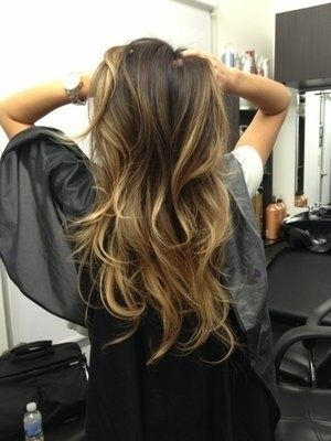nice ombre hair, suitable for common look
