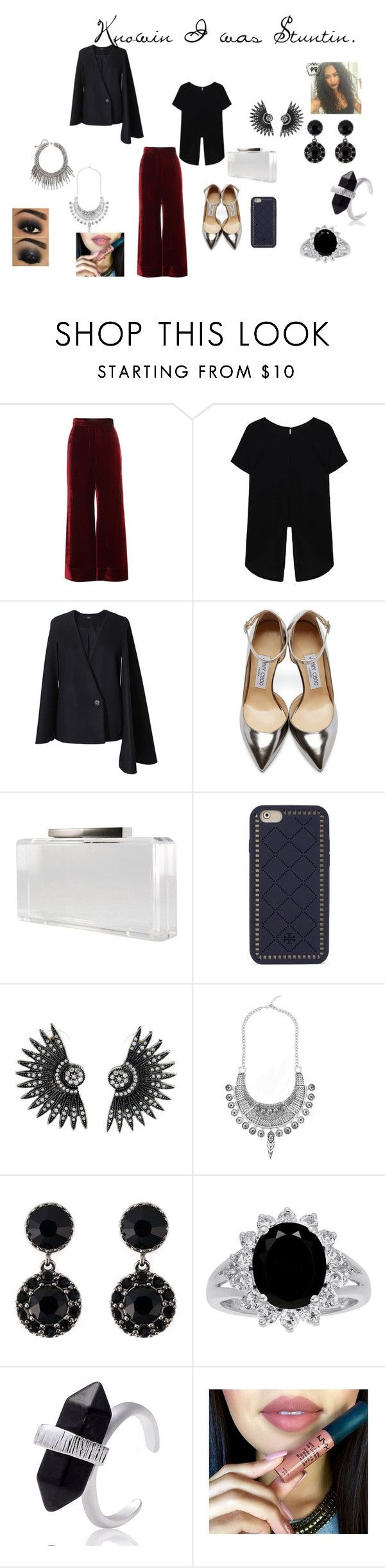 """""""Untitled #105"""" by rosesanders on Polyvore featuring E L L E R Y, TIBI, Jimmy Choo, Tory Burch, Givenchy, MAK, women's clothing, women's fashion, women and female"""