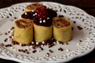 COOKING WITH ANISOARA: CREPES CON CIOCOLATE  - clatite cu crema de ciocol...