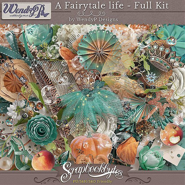 A Fairytale Life - Full Kit :: Full Kits :: Kits & Bits :: SCRAPBOOK-BYTES