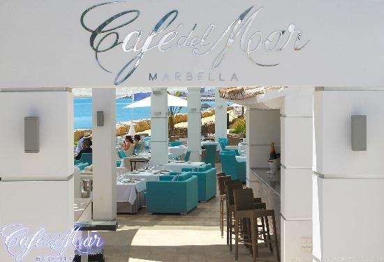 Restaurante caf del mar marbella rest hotels spain - Restaurante noto marbella ...