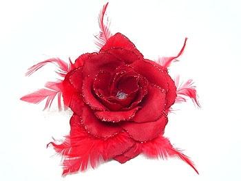 Rode #roos #haaraccessoire