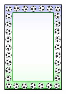 Football A4 page borders