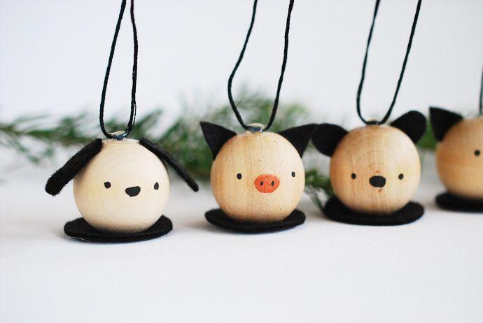 DIY Wooden Critter Ornaments - Handmade Charlotte.