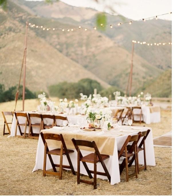 Outdoor country wedding reception!
