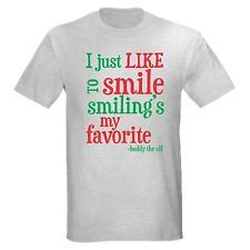 LIKE SMILE SMILINGS FAVORITE BUDDY THE ELF DVD MOVIE CHRISTMAS FUNNY T-SHIRT