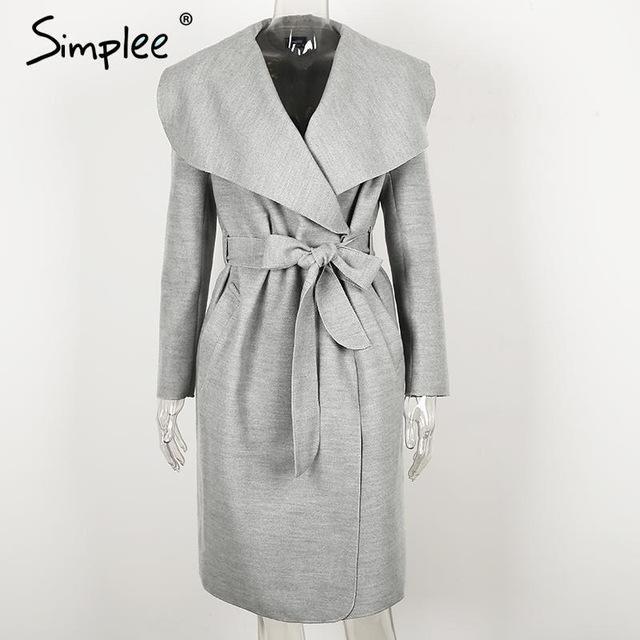 Black ruffle warm winter coat Women turndown long coat collar overcoat female Casual autumn pink outerwear