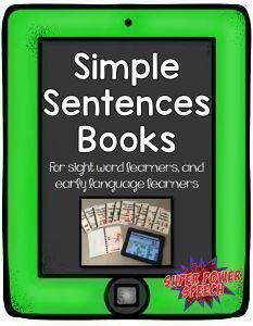 """These inexpensive, simple books help early language learners to create sentences! They are geared specifically towards students using LAMP since each book focuses on one """"category"""" button within the LAMP app. As an added bonus, these books are packed with sight words to help students practice both language and reading skills."""