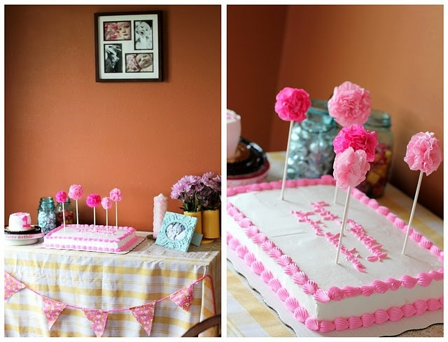 Cute and simple birthday cake decoration