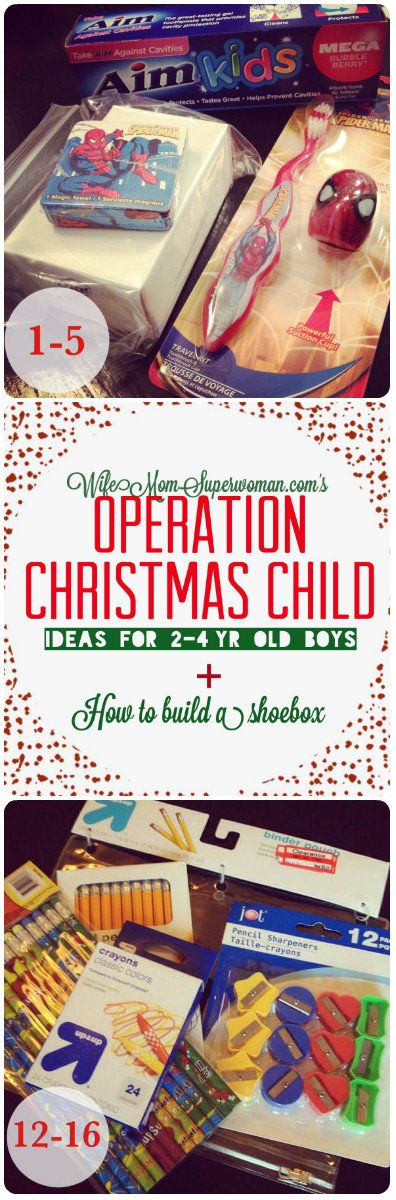 PLEASE re-pin & spread the word! Operation Christmas Child: Ideas for 2-4 Year Old Boys & How to Build a Shoebox! {OCC, Samaritan's Purse}