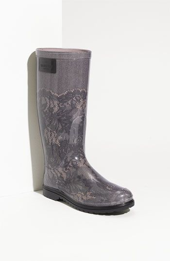 Valentino Lace Print Rain Boot (Women) Wishing these werent 300 dollars.