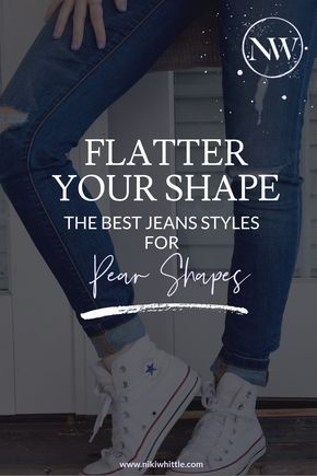 5f8de324a2f These styles of jeans will complement the pear-shaped figure the best. Denim  for pear shaped body types