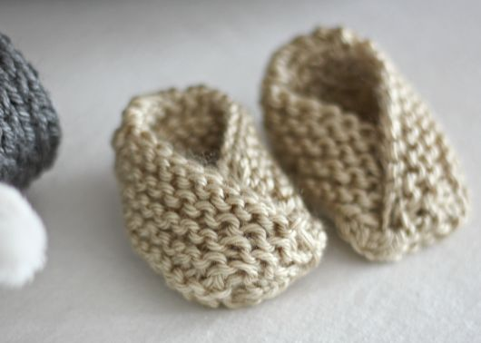 DIY Easy Knit Baby Booties with Free Pattern
