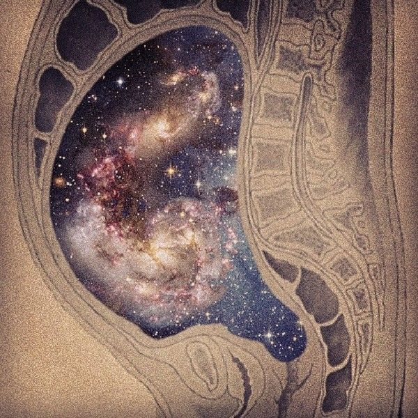Universe grows in the mother's womb  The impossible Universe by tind ., via Behance