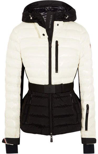 e0c7230c4b4b Moncler Grenoble - Bruche Belted Two-tone Quilted Ski Jacket - Ivory ...