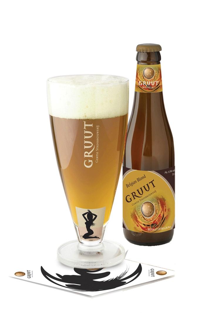 "Gruut blond, Gentse stadsbrouwerij 5.5% 8/10. Breed with""gruut "" instead of hops."