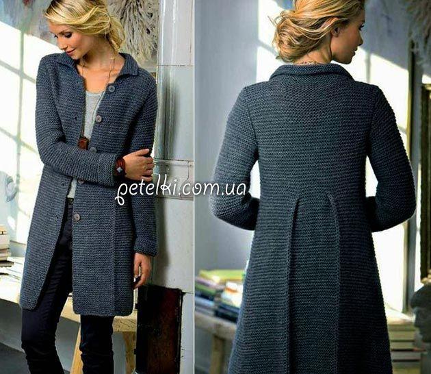 raggi classico cappotto.  Come a lavorare a maglia