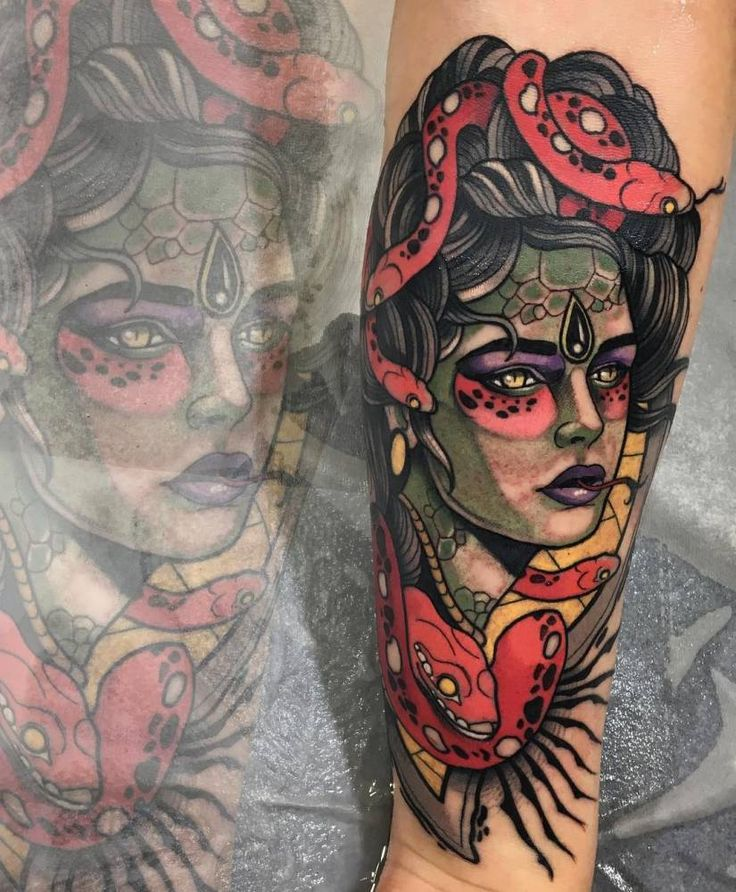 Medusa Tattoo Meaning: 16 Best Neotraditional Tattoos Images On Pinterest