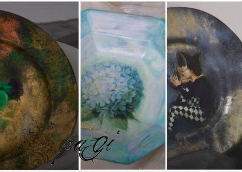 Fantázia tányéron - tányérok frontoldali díszítése, pigment porokkal