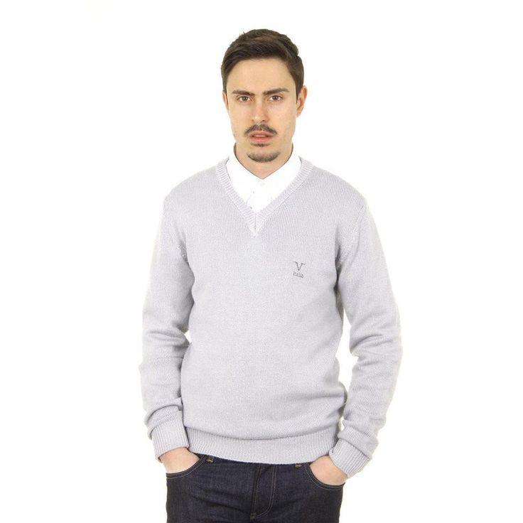 Grey XXL Versace 19.69 Abbigliamento Sportivo Milano mens V neck sweater 9803 SCOLLO V GRIGIO MEDIO