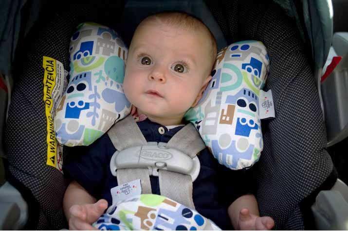 Dahlia Baby Elephant Ears Headrest Pillow