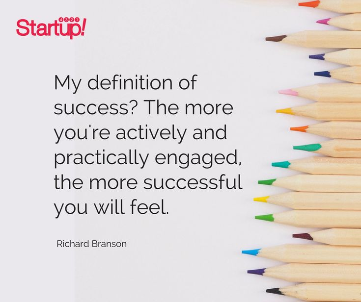 My definition of success? The more you're actively and practically engaged, The more successful you will feel. - Richard Branson  #startup #smallbusiness #entrepreneur #positivevibes #inspirationalquotes #motivationalquotes #success #dream #motivate #bepositive #4321startup